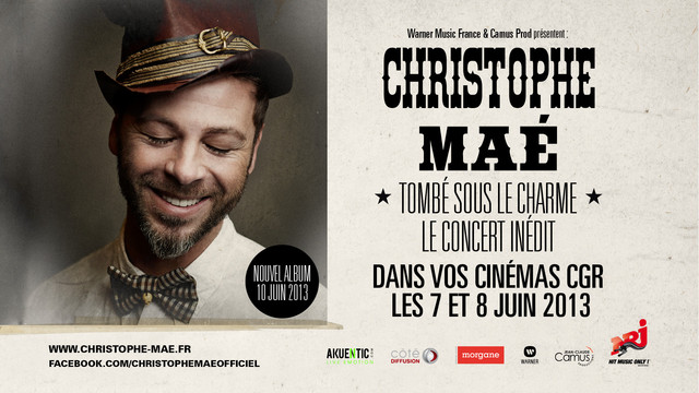 RETRANSMISSION DU CONCERT EVENEMENT DE CHRISTOPHE MAE