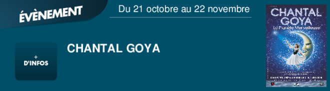 CHANTAL GOYA  Du 21 octobre au 22 novembre